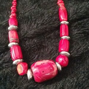 Jewelry - Chunky red coral necklace